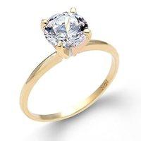 Amazon.com: 1/4 Carat Solitaire Round Cut Diamond 4 Prong