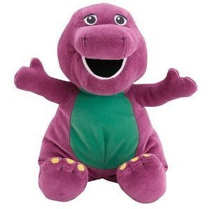 Amazoncom Barney the Purple Dinosaur Toy  25 Huge Jumbo Huggable Barney Plush Doll Toys  Games