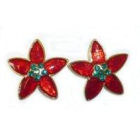 Poinsettia Fashion Earrings | Christmas Wikii