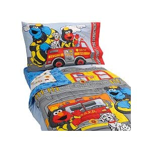 Sesame Street Fire Department 4 Piece Set