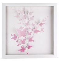 3D Pink Butterfly Artwork, Girls room dcor, Baby girl ...