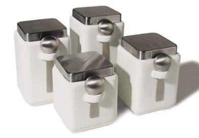 Amazon Com White Ceramic Canisters