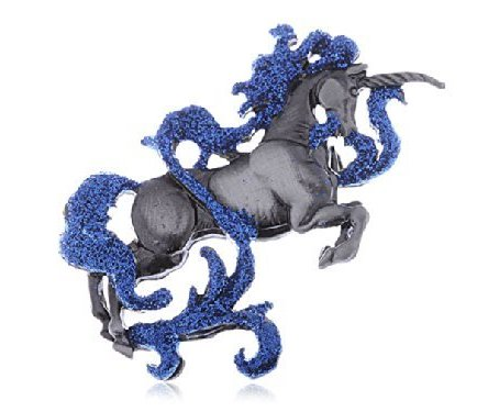Swarovski Crystal Elements Mythical Mystical Creature Unicorn Horse Pin Brooch