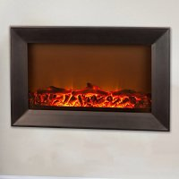 Fire Sense Black Wood Wall Mounted Electric Fireplace Home ...