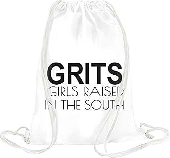 Amazon.com: Grits Girls Raised In The South Funny Slogan Drawstring bag: Clothing