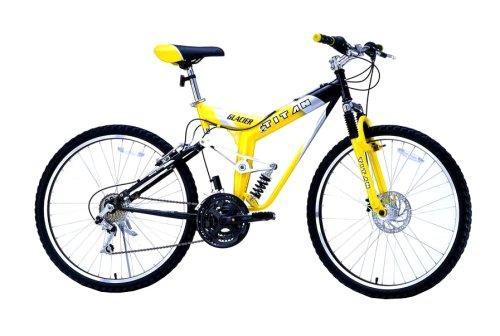 TITAN Glacier Dual Suspension All-Terrain Mountain Bicycle – 26″ Alloy Wheels – 18-Speeds – Shimano – Unisex 19″ Frame – Trail Bike – Disk Brake