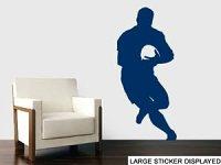 Rugby Player Silhouette Wall Art Vinyl Stickers - Dark ...