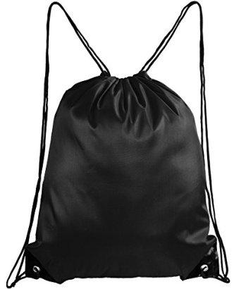 Mato-Hash-Basic-Drawstring-Tote-Cinch-Sack-Promotional-Backpack-Bag-20PK-Black