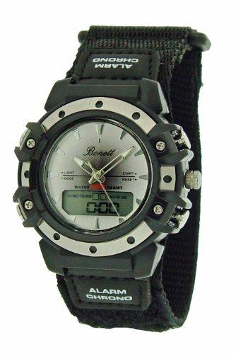 Bonett Armbanduhr Jugenduhr Analog - Digital Chrono Alarm, Timer, Kalender Stoppuhr 1204H