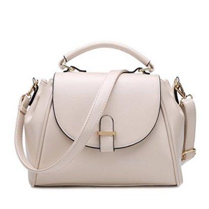 Fashion-Road-Womens-Modern-Retro-Top-Handle-Bag-Pu-Leather-Satchel-Handbag-Beige
