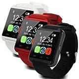 Black Waterproof Bluetooth Wrist Smart Watch Phone Mate Handsfree Call For Smartphone Outdoor Sports Pedometer Stopwatch