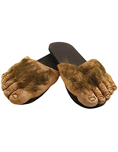 Big Hairy Feet Slippers Hobbit Big Foot Houseshoe Shire Monster Funny Shoes