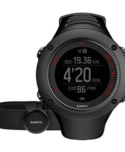 Suunto Ambit3 Run HR - Reloj de carrera GPS, unisex, color negro