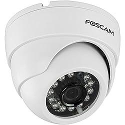 Foscam FI9851P Indoor Dome 720P Megapixel Wireless P2P IP Camera (White)