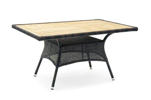 Belardo ASTENA Tisch rechteckig Gartentisch aus Teakholz Schwarz