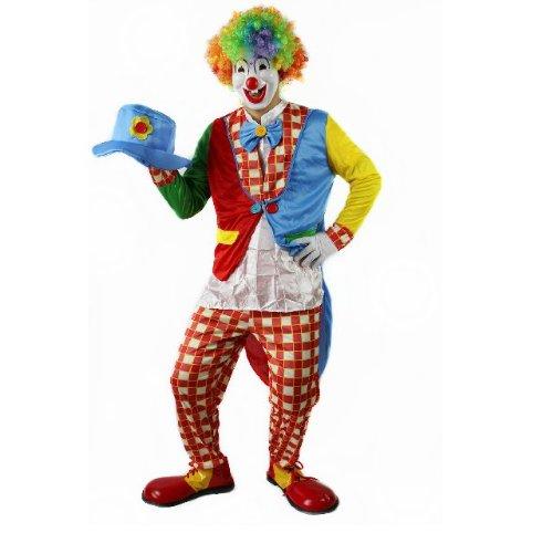 Cospassion ピエロ 仮装 本格的コスプレ衣装 ハロウィン クリスマス パーティーにも 【服 手袋 帽子 仮面 アフロウィッグ】 (【仮装セットA】)