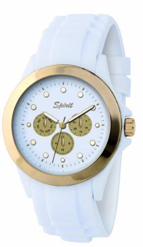 Spirit Damen-Armbanduhr Analog Plastik weiss ASPL36