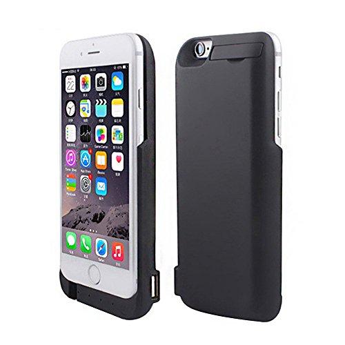 TTMOW iPhone6/6S 4.7 大容量7000mAh 超薄 モバイルバッテリー内蔵ケース 一体型バッテリーケース 急速充電 緊急充電 スタンド機能 2台同時充電 日本語取扱説明書付 ブラック