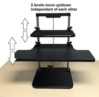 UpTrak - Dual Level Sit/Stand Desk Riser by Stand Steady ...