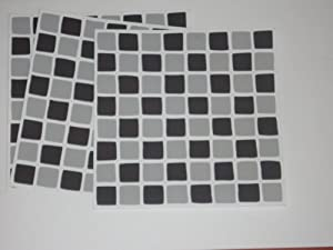10 X Black Amp Grey Mosaic Tile Transfers Stickers