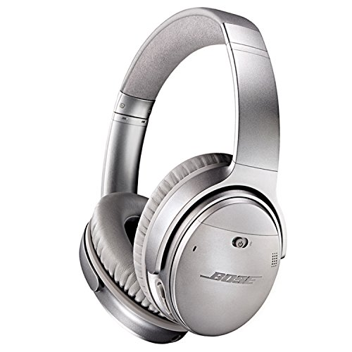 Bose QuietComfort 35 Wireless Headphones, Noise Cancelling - Silver