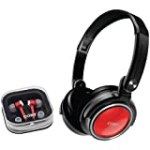 Coby CV215RED Deep Bass Stereo Headphones and Earphones (Red) for $9.8 + Shipping