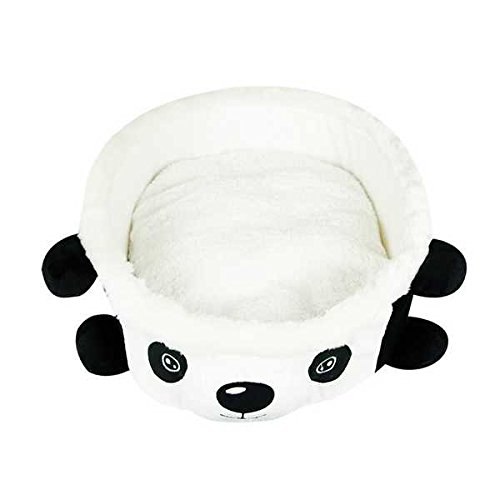 Soft Cartoon Panda Bowl Pet House Kennel Bed