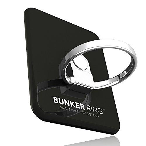 BUNKER RING 3 全5色 バンカーリング iPhone/iPad/iPod/Galaxy/Xperia/スマートフォン・タブレットPCを指1本で保持・落下防止・スタンド機能ジェットブラック
