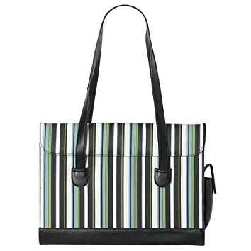 Merona® Green and Black Stripe Laptop Carrying Case