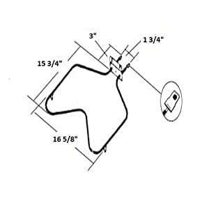 Amazon.com: Whirlpool Roper Oven Parts Bake Element Fit