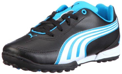 Puma v5.11 Big Cat TT Jr 102365, Unisex - Kinder, Sportschuhe - Fußball, Schwarz (black-white-dresden blue 01), EU 29 (UK 11) (US 12)