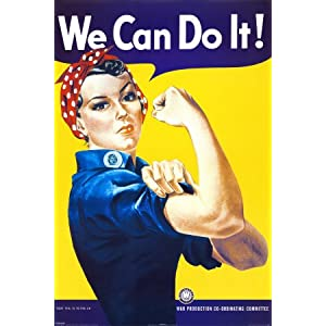 Rosie the Riveter Poster - 16x20 Mini Poster Print