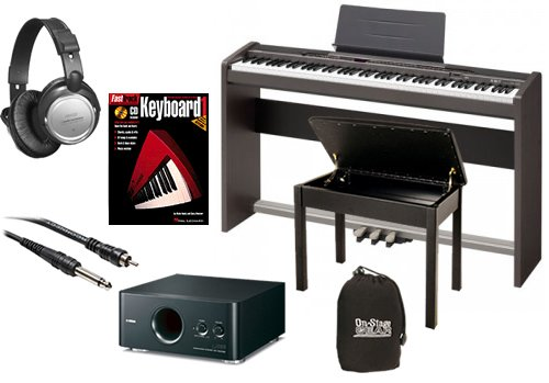 Casio PX-330 Digital Piano BUNDLE+ w/ Subwoofer, Wood Bench & Stand