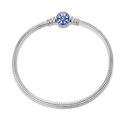 NinaQueen-925-Sterling-Silver-Snake-Chain-Bracelet-with-Blue-Clasp-Charms-Ideal-Gift-for-wife-girlfriend-families-and-friends-on-Birthday-Anniversary-Thanksgiving-Day-and-Christmas-Day-Women-Fine-Jewe