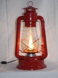 Dietz Blizzard 'Vintage Style' Electric Lantern Table Lamp ...