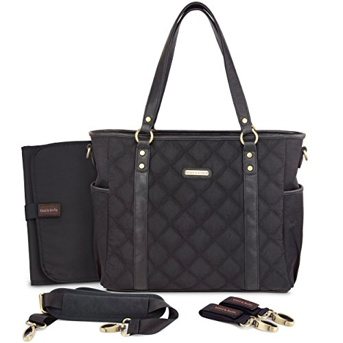 timi & leslie Quilted Tote Diaper Bag, Soho