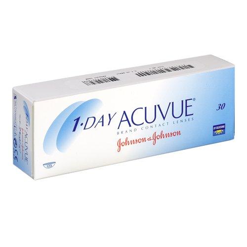 Johnson&Johnson, 1-Day Acuvue Tageslinsen, Packung mit 30 Kontaktlinsen (BC-Wert: 8.50 / Dia: 14.2 mm)