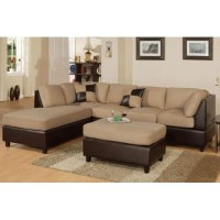 Amazon.com - Inland Empire Furniture Hazelnut Sectional ...