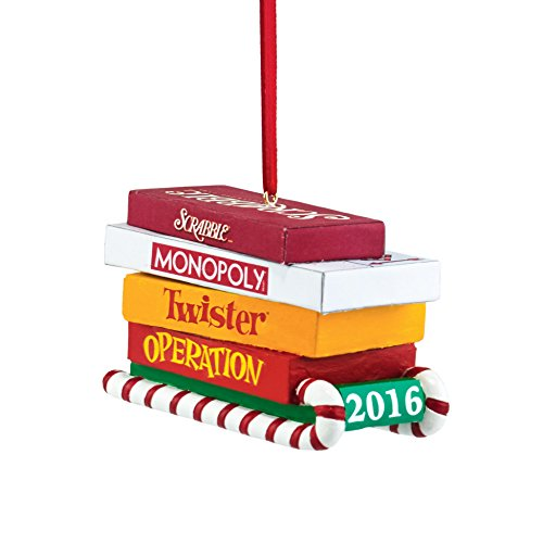 Department 56 Hasbro Board Games on Sled Ornament, 3