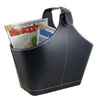 Amazon.com - Faux Leather Magazine Holder Black