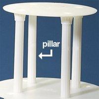 "Wedding Cake Stand Pillar, White 7"""