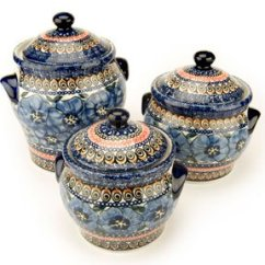 Kitchen Pottery Canisters Wall Decor