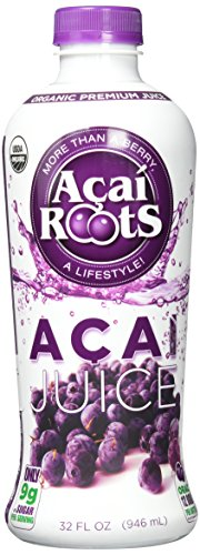 Acai Roots Pure Acai Juice, 32-Ounce Bottles (Pack of 3)