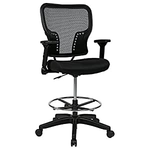 Amazoncom  Space Deluxe Drafting Chair with Air Grid