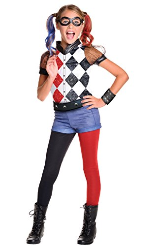 Rubie's Costume Kids DC Superhero Girls Deluxe Harley Quinn Costume, Large