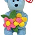 Ty Bluebonnet – Blue Bear with Flowers