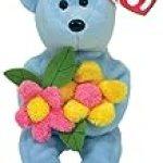 Ty Bluebonnet – Blue Bear with Flowers
