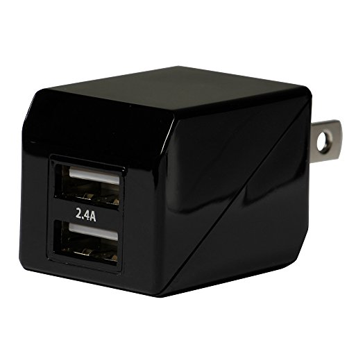 オウルテック 2年保証 ストロングAC充電器 2ポート 合計出力2.4A iPhone6s/6sPlus/6/6Plus/5s/iPad air2/mini4/Galaxy/Xperia等スマートフォン タブレットPC対応 ブラック OEC-ACU2F24-BK