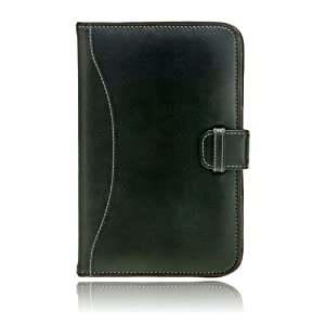 "splash SIGNATURE Leather Folio Case for Amazon Kindle 3 3G + Wi-Fi 3rd Generation, 6"" Display - Latest Generation (BLACK)"
