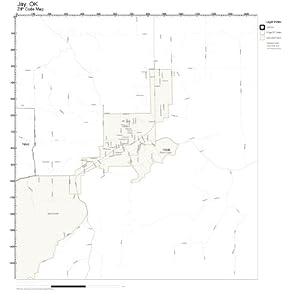 Amazon.com: ZIP Code Wall Map of Jay, OK ZIP Code Map